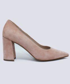 zapatos tacón cómodo ante nude
