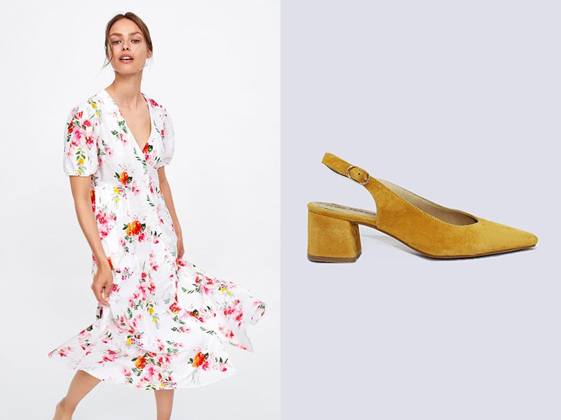vestido de zara con zapato ada